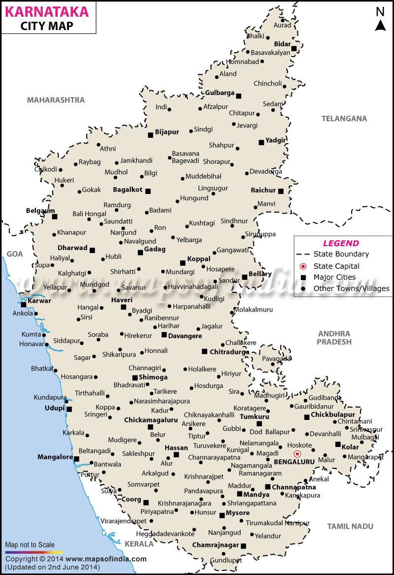 karnataka city map