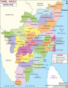 Tamilmadu map